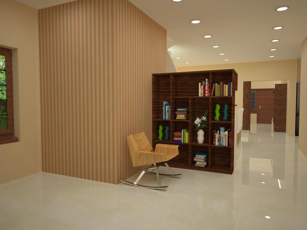 Customer Story A Contemporary Bookshelf Crockery Unit For A Modern Home Homelane