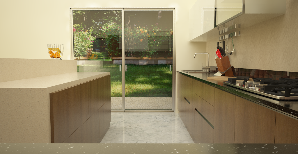 ... Modular Island Kitchen ? granite and solid surface countertops
