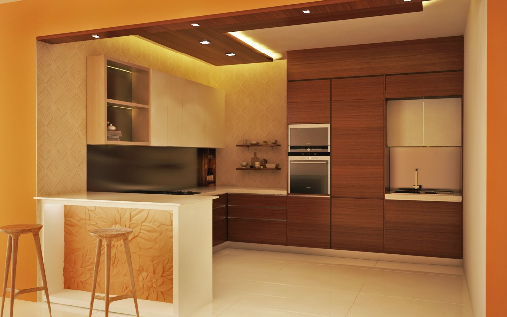 Counter Talk Modular Kitchen With A Breakfast Bar Homelane