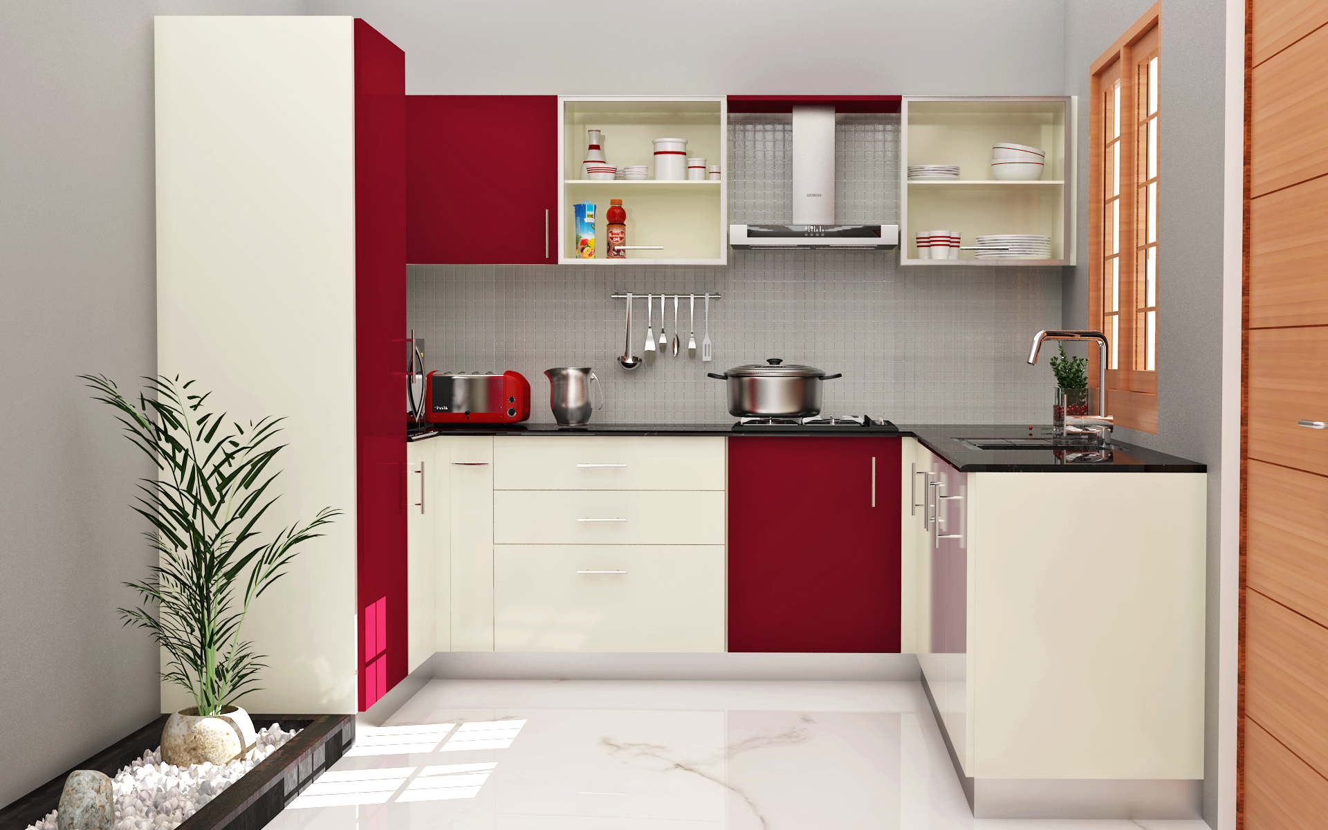 modular kitchen designs: 4 ways to go glossy - homelane