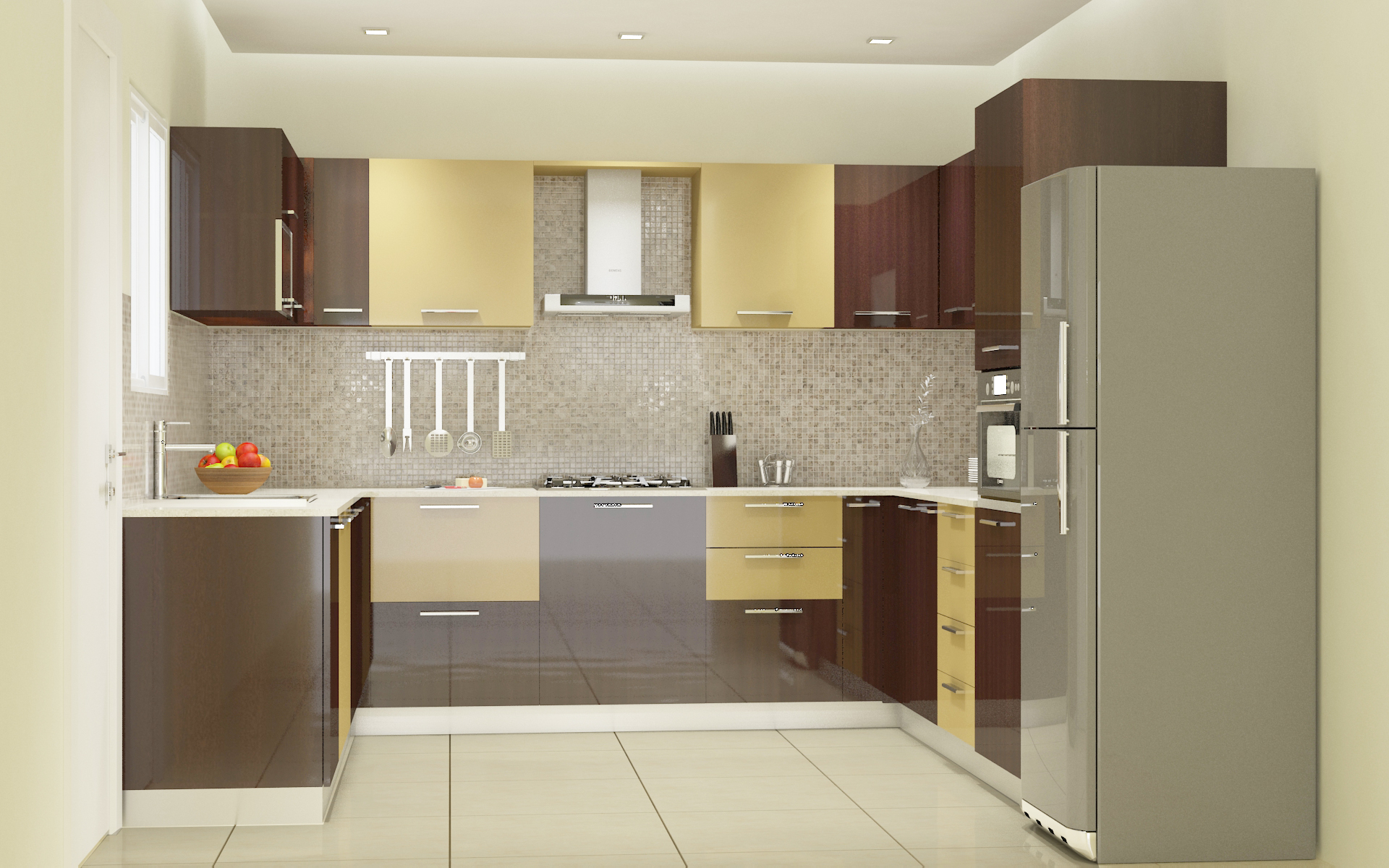 Modular kitchen designs 4 ways to go glossy homelane blog Modular kitchen design colors