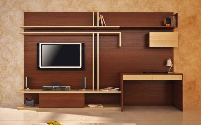 Superior Entertainment Unit With Study Table From HomeLane Part 6