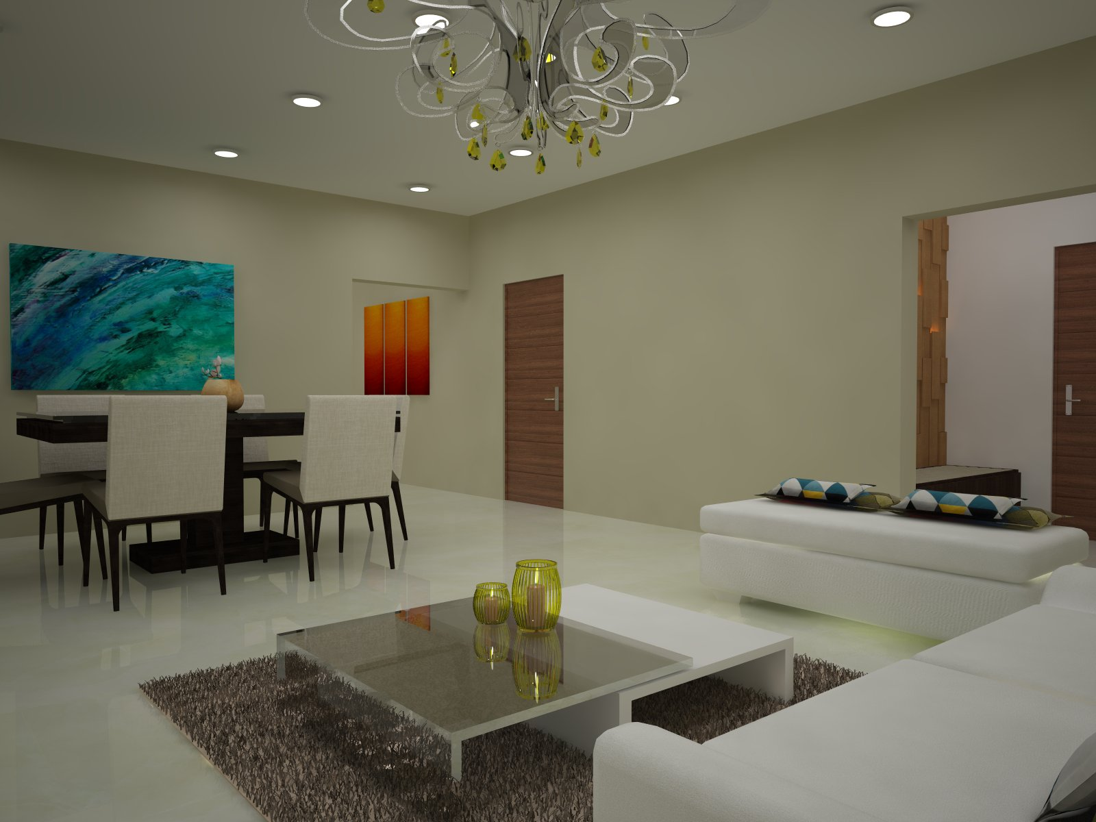From Designer Diaries: Contemporary Style Apartment for Adarsh Palm Retreat