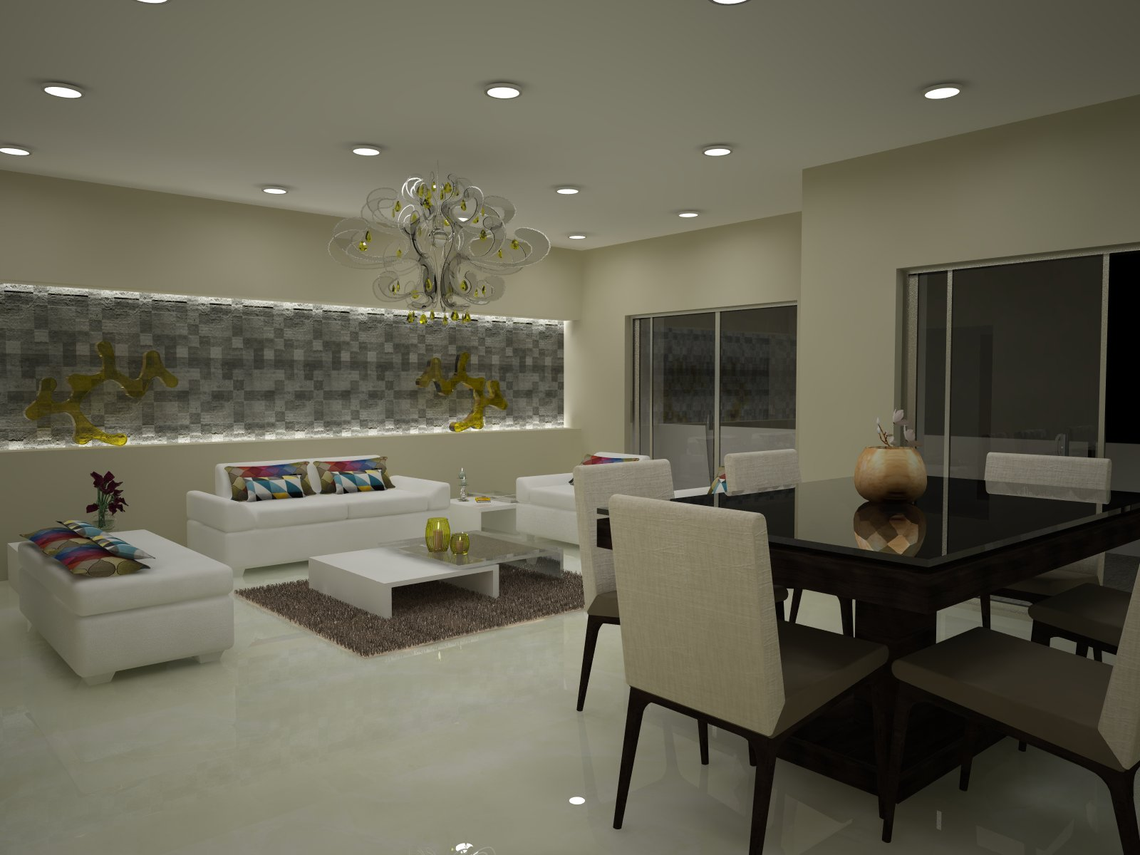 From designer diaries contemporary style apartment for for U shaped dining room