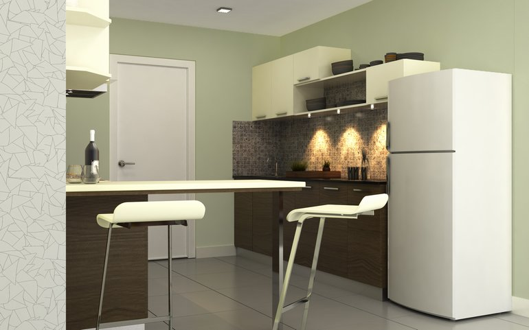 Space-saving and efficient: Parallel kitchen from HomeLane