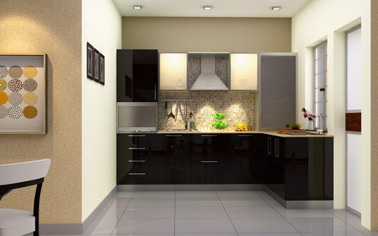 Convenience And Adaptability: L Shaped Modular Kitchen From HomeLane Part 44