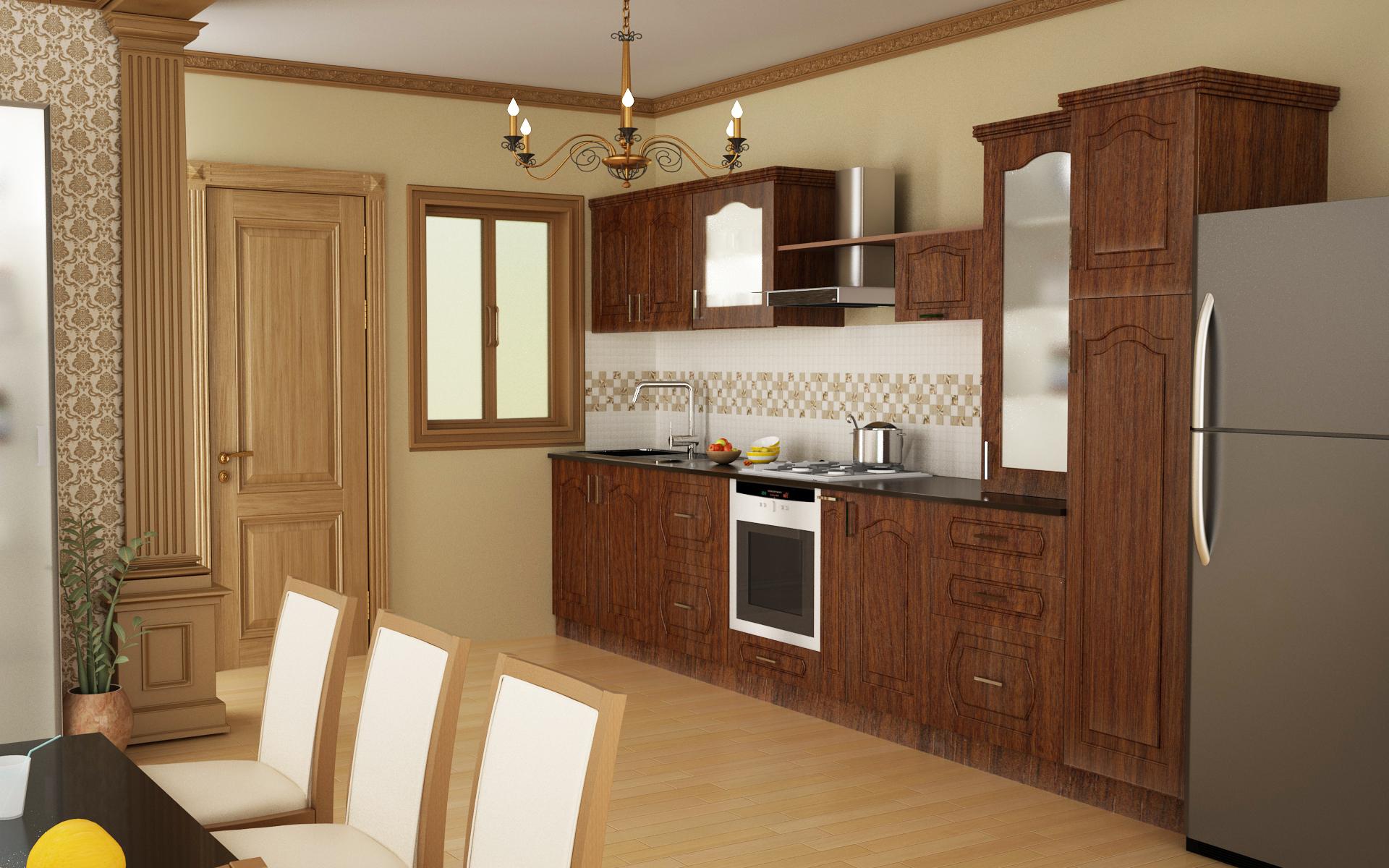 Design tips the straight kitchen homelane - Straight line kitchen designs ...