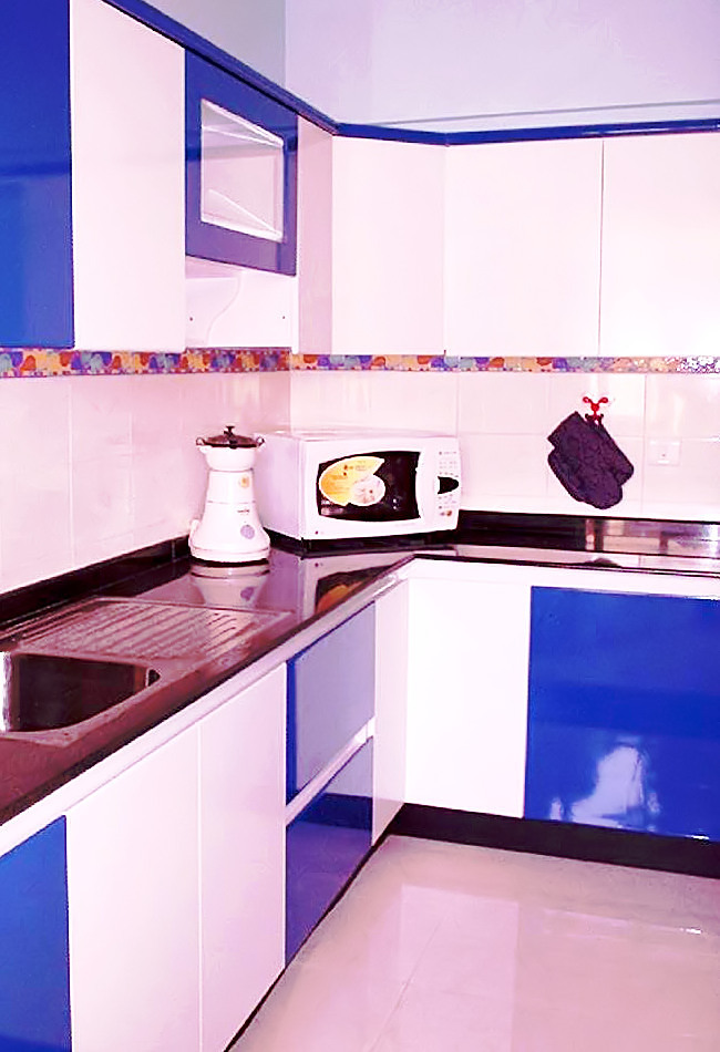 Homelane Designs The Blue And White Kitchen HomeLane
