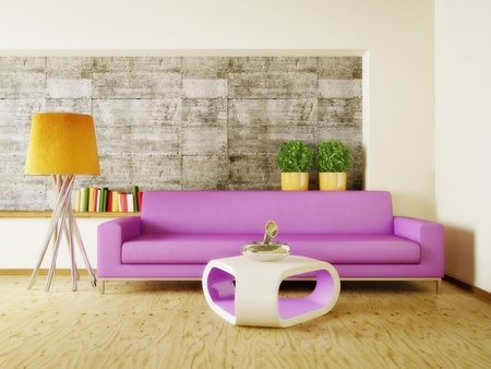Bright colours living room
