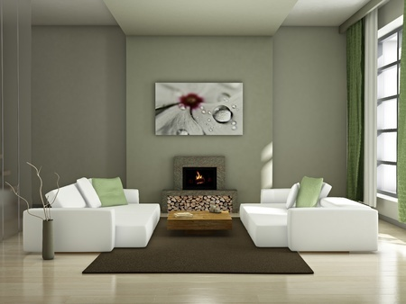 Darker tones living room