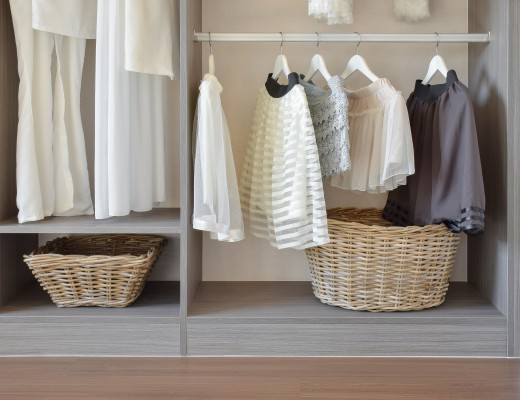 Arrange and order your wardrobe essentials to maximise space