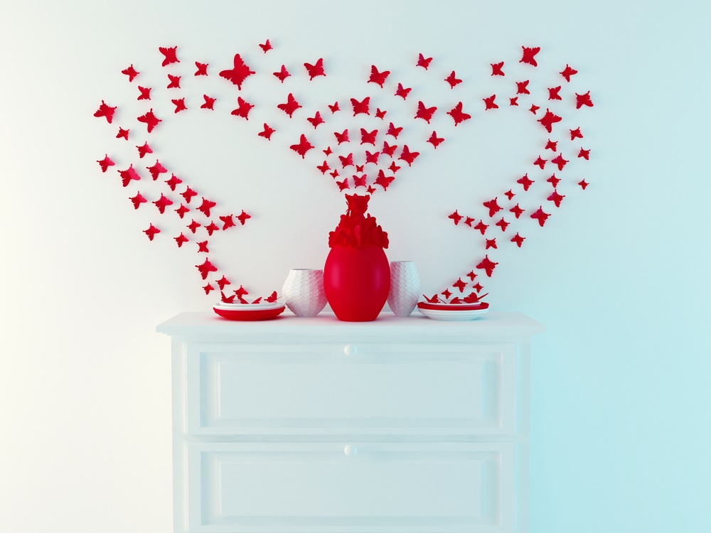 Brighten up a wall with a splash of red