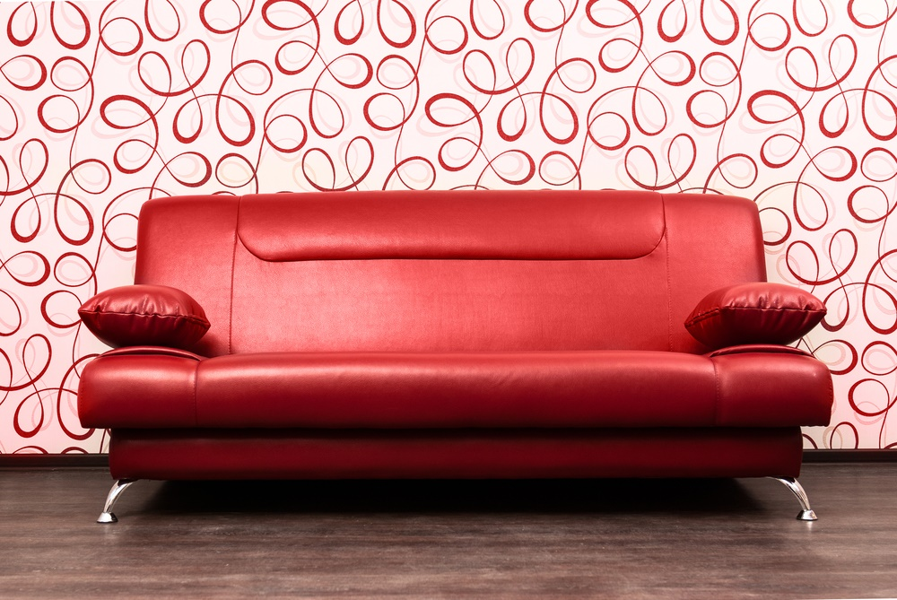 Red sofa. Red decals. In love, yet?