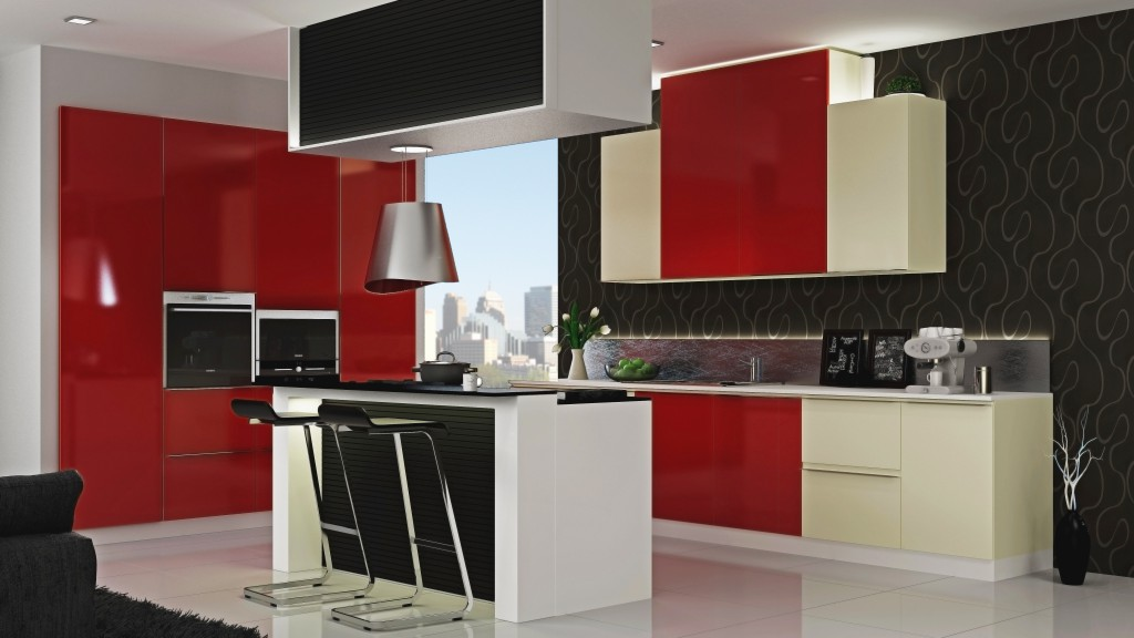 We're all for red kitchens. Are you?