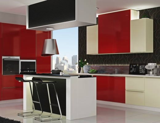 The right shutter can make all the difference. We're all for red kitchens. Are you?