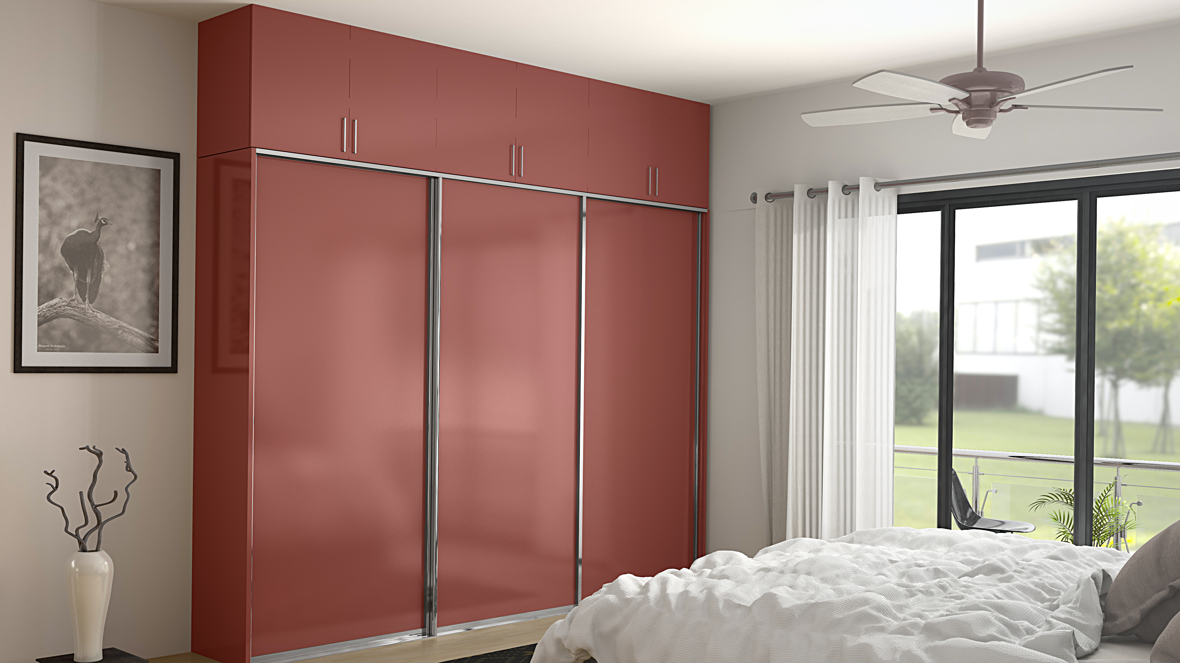 6 trendy wardrobe door designs from homelane homelane for Sliding wardrobe interior designs