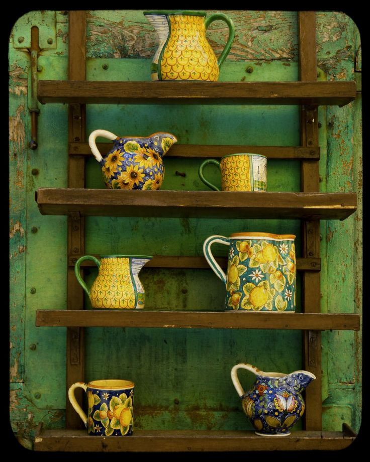 yellow crockery for kitchen