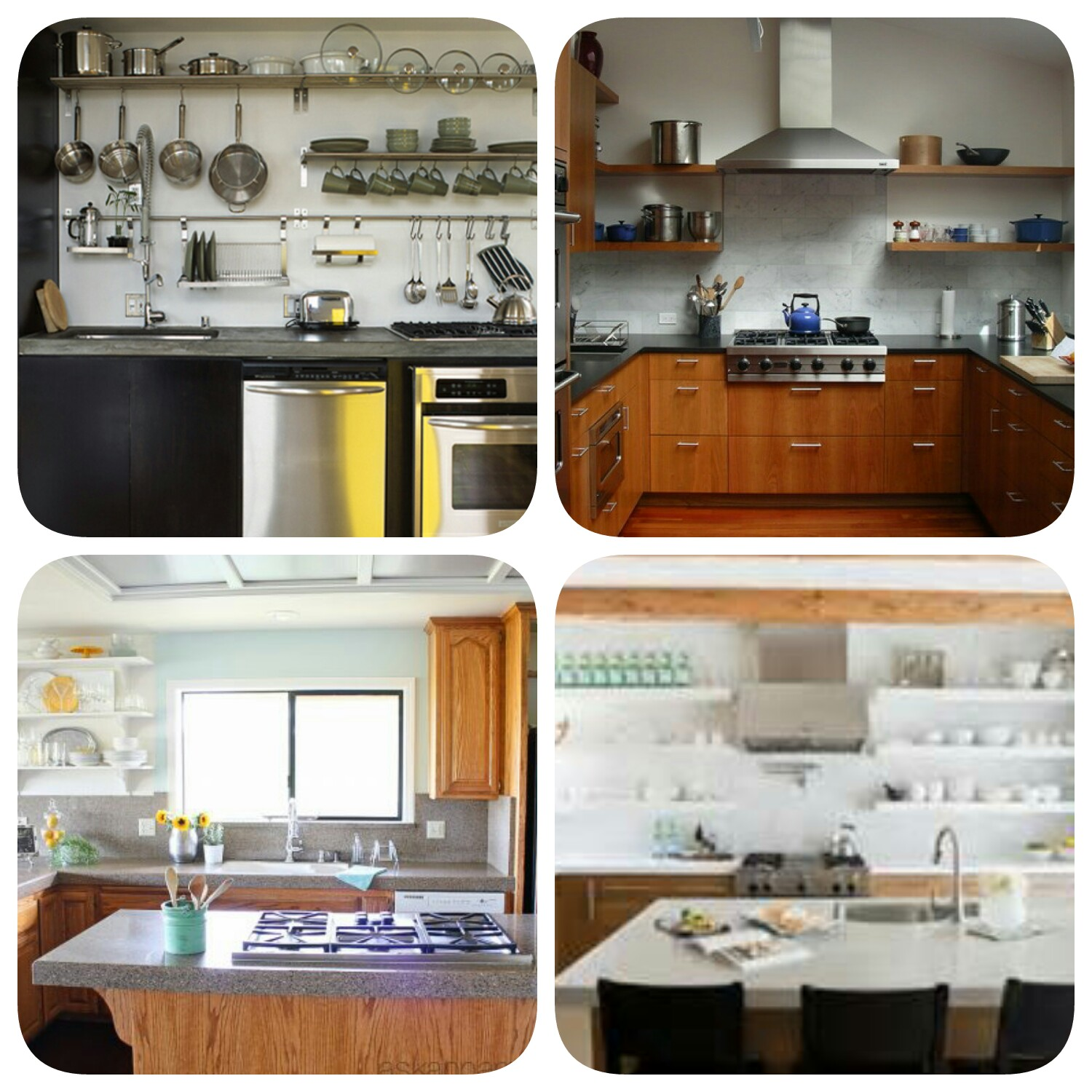 Indian kitchen design blog - Open Shelves Kitchen Ideas