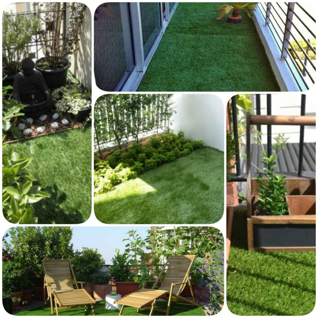 grass planting in balconies