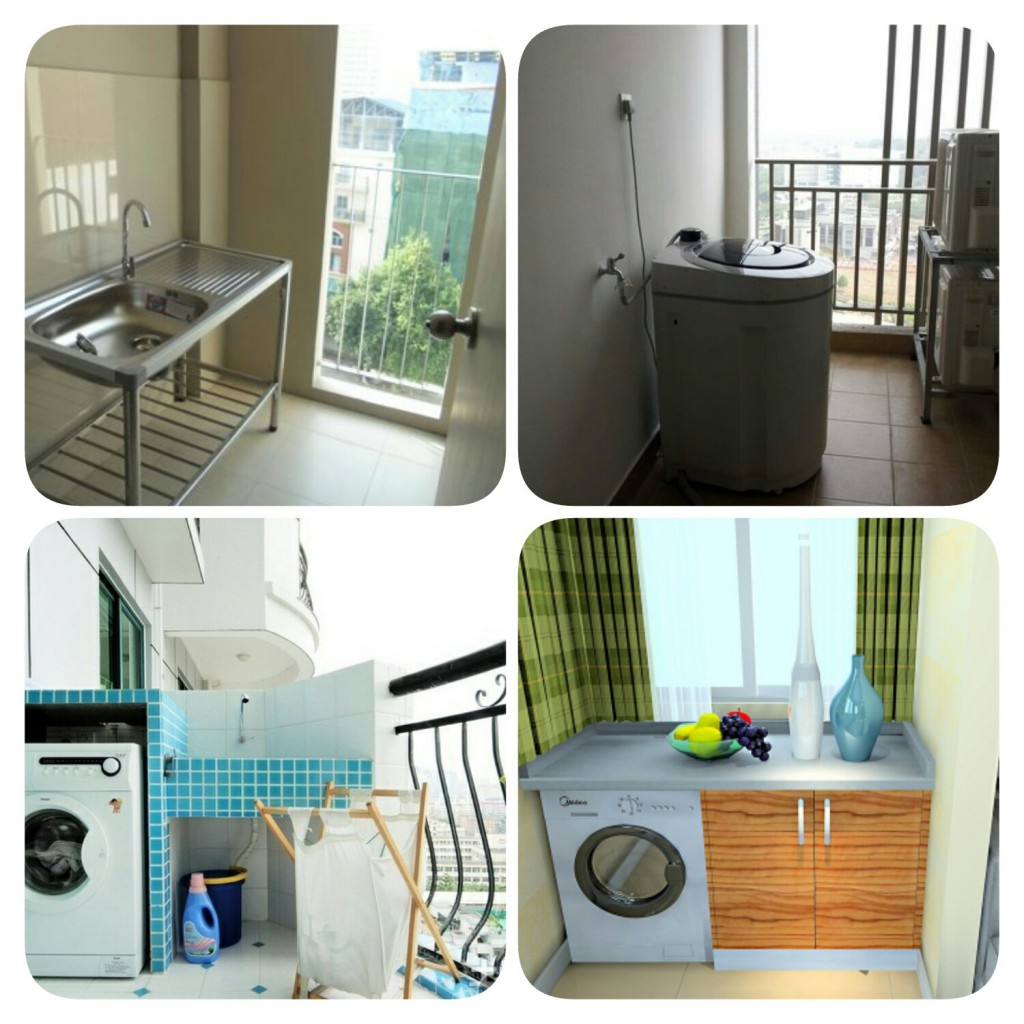 balcony for your washing machine and sinks